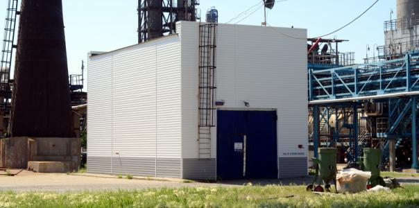 Завершено производство работ по ремонту фасада здания насосной пенотушения установки 43-103 производства №2 ОАО «Газпромнефть-ОНПЗ»
